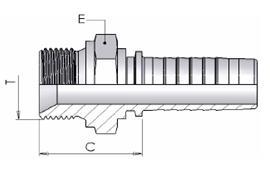 Фитинг BSP Дюймовое соединение с уплотнительным конусом 60°